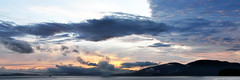 2017-05-04 Sunset Panorama (02) (3072x1024) (-jon) Tags: anacortes skagitcounty skagit washingtonstate washington salishsea fidalgoisland sanjuanislands pugetsound guemeschannel waterfront sky sunset cloud clouds pano panorama panoramic a266122photographyproduction composite stitched spring pnw pacificnorthwest rosariostrait