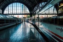 Estació de França (W.MAURER foto) Tags: spanien spain barcelona train trainstation bahnhof estaciódefrança zug travel nikon nikond810 tamron1530mmf28 blau reflection spiegelung katalonien barceloneta light shadow lightandshadow
