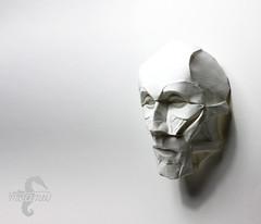 Under my Skin (mitanei) Tags: origami faces muscles facial face origamiface faltkunst gesicht paperart papierkunst papersculpture masks maske mask origamimaske mitanei keepfoldingon keepfodlingon human