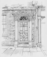 The doorway of 118 Micklegate, York