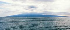View of Lanai behind Ocean Squall, from Lahaina, Maui, Hawaii (trphotoguy) Tags: lahaina maui hawaii rvp50 nikonf4 film fujichromevelvia50 velvia50 lanai afnikkor3570mmf28d
