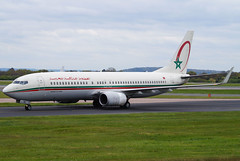 Royal Air Maroc 737-8B6(WL) CN-ROC. 29/04/17. (Cameron Gaines) Tags: cn 33061 first flew renton 21st february 2005 was delivered ram cnroc 8th march the aircraft ordered replace 737 classics 734735s current april 2017 royal air maroc boeing 7378b6wl taxiing down alpha past viewing park terminal 2 manchester airport after arriving 23r from casablanca at818 290417 aviation airliner interest man egcc northwest britain england aeroport aeroplane avgeek like4like share av8 clouds cheshire trees grass plane