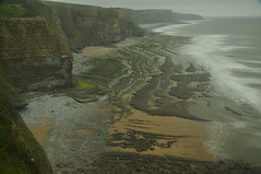 South Wales (daveknight1946) Tags: wales glamorgan landscape waterscape rocks boulders sea water longexposure beach cliffs