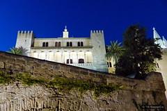Mallorca '15 - Palma - 07 - am Abend 03 (Stappi70) Tags: urlaub spanien palmaindernacht palmademallorca palma palaudelalmudaina palast nacht mallorca altegebäude abend e