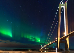 Höga kusten bron med norrsken (fotografanders) Tags: högakustenbron höga kusten bron norrsken aurora auroraborealis borealis northernlights northernlight nordlys arctic light västernorrland högakusten ångermanälven hotellhögakusten nordlicht astrofotografering nature sweden ångermanland