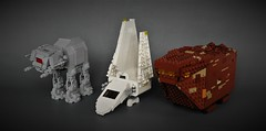 May the 4th be with us all! (adde51) Tags: adde51 lego moc starwars star wars atat atact walker may 4th may4th chibi chibistyle imperial shuttle tyderium imperialshuttletyderium space spaceship sandcrawler jawa mini midi midiscale tabletop version