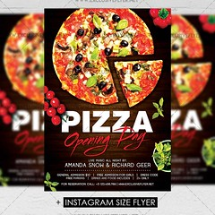Pizza Opening Day - Premium A5 Flyer Template (ExclusiveFlyer) Tags: exclusiveflyer psd freeflyer freepsd pizza openingday promotionalevent pizzafestival fastfood italianpizza tastyfood