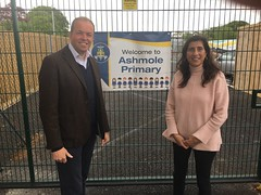 David Burrowes and I at Ashmole Primary