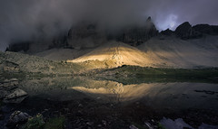 High Light (@hipydeus) Tags: dolomites mountain lake reflections light