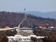 The Landmark Building: Canberra Parliament House (publicdomainphotography) Tags: act activity anzac architecture attraction australia australian avenue blue building canberra capital car city commonwealth day daytime destination famous federal flag govern government highway hill house landmark landscape lane memorial museum new old parade parliament place politics road sky square street territory tourism traffic travel view war
