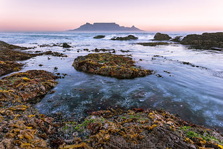 Table mountain at sunset - Cape Town South Africa. Christine Phillips
