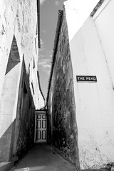 The Pend (baconisavegetable) Tags: alley cottage scotland st monans fife sky shadow gutter lines stone wall doorway roof