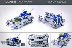 LL-26 Workbee (Agaethon29) Tags: lego afol legography brickography legophotography minifig minifigs minifigure minifigures toy toyphotography macro cinematic 2017 legospace neoclassicspace spaceman classicspace space scifi sciencefiction ncs novateam customminifigure moc spaceship