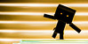 Dance dark Danbo. (CWhatPhotos) Tags: cwhatphotos clock time piece photographs photograph pics pictures pic picture image images foto fotos photography artistic that have which with contain olympus epl5 box danbo danboard toy mini light shadow shadows small silhouette silhouetted silhouettes dambo