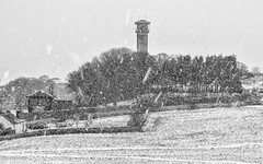 The Water Tower. (malcbawn) Tags: malcbawncouk watertower winter cleadonhills outdoors malcbawnphotography cleadon blackandwhite snowing snow