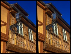 Quedlinburg historic street lights 3-D / Stereoscopy / CrossView / HDR / Raw (Stereotron) Tags: sachsenanhalt saxonyanhalt ostfalen harz mountains gebirge ostfalia hardt hart hercynia harzgau quedlinburg architecture fachwerk halftimbered house stud work antiquated ancient medieval middleages deutschefachwerkstrase crosseye crosseyed crossview xview cross eye pair freeview sidebyside sbs kreuzblick 3d 3dphoto 3dstereo 3rddimension spatial stereo stereo3d stereophoto stereophotography stereoscopic stereoscopy stereotron threedimensional stereoview stereophotomaker stereophotograph 3dpicture 3dglasses 3dimage canon eos 550d chacha singlelens kitlens 1855mm tonemapping hdr hdri raw europe germany