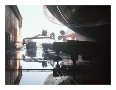 P1350484 (jimbonzo079) Tags: cruise dock drydock port harbor harbour marine maritime naval ship vessel boat propeller color colour art rust retro vintage europe industry industrial world engineering shipyard hellas greek greece panasonic lumix dmc gf5 1442mm micro 43 digital film effect texture photoshop lightroom vsco attiki landscape topography 2016 water reflection
