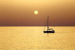 Sailing in a golden sea - Hertzelia beach (Lior. L) Tags: sailingatthegoldenhourhertzeliabeach sailinginagoldenseahertzeliabeach sailing golden sea hertzelia beach sailboat silhouette travel travelinisrael israel hertzeliabeach