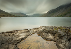 A cloudy Wast Water - Cumbria (99damo) Tags: lakedistrict cumbria cloud crag screes moody water wasdale wast morning d810 exposure nikon lee 20mm lake rocks pool