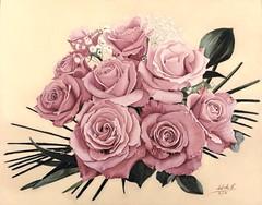 "CPM April 2017 Art Challenge - ""Roses Are Pink"" #1704 (da's art) Tags: prismacolor derwent lyra luminance polychromos flowers roses coloredpencilmagazine coloredpencils drawing artwork traditionalart cpmapril2017artchallenge"