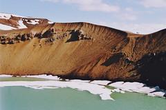 . (Careless Edition) Tags: photography film mountain island iceland nature landscape krafla volcano lake crater