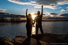 world peace (Isaac 9's Photography) Tags: sunset sunburst peace silhouette oldlyme ct connecticut nikon d750 24mmafd polarizer isaacninesphotography selfie selfportrait