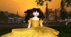 Tale as Old As Time - ND/MD Yellow Rose Dress (Queen Galaxia) Tags: avatars ndmd aa hair yellow rose dress kidtokid event blog alea lamont