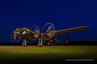 Electric blue Lancaster