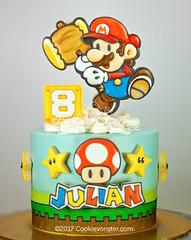 Paper Mario Cake (Cookievonster) Tags: cookievonster customcookies cookieart cookiedecoratedcake papermario