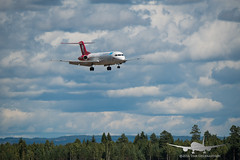 Sky Greenland - PH-MJP - Fokker 100 (Aviation & Maritime) Tags: phmjp skygreenland denimair fokker fokker100 osl engm osloairportgardermoen oslolufthavngardermoen osloairport gardermoen norway