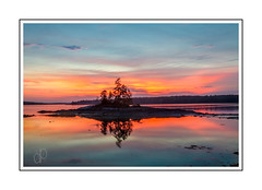 Middle Bay Sunset (Me in ME) Tags: harpswelllookoutpointmaine middlebay sunset