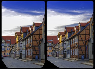 Wernigerode architecture 3-D / CrossView / Stereoscopy / HDR / Raw