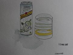 10- A Beverage (cheesemoopsie) Tags: aquarelle watercolor sketch croquis