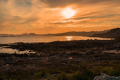 Orange skies..... (Dafydd Penguin) Tags: ria de vigo sea sun coast coastal galicia north west spain atlantic water orange skies sky nikon d610 nikkor 35mm af f2d