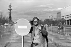 «Stop signal» by Yury Yakovenko (Andrey  B. Barhatov) Tags: portrait face barhatovcom personalphoto people abb 2017 analoguephotography analogphoto lomography analog film filmtype120 filmfilmforever filmoriginal filmmood filmisnotdead filmphotography filmphoto 6x9foldingcameras 6x9 blackandwhiteonly bnwmood blackandwhite bnwfilm bnw monochrome monotone bw bwfp artinbw nocontrast noiretblanc noir oldfilm oldcamera oldlens oldstyle grain ussrcamera moskva4 industar23110mmƒ45 retro industar23 fomapan400 fomapan400action fomapan outdoor outdoors fountain россия москва весна сам стараяфотопленка фотопленка просрочка пленка настроение город городскиезаметки москва4 чернобелое музеон muzeon rangefinder sovietrangefindercamera