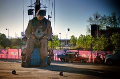 Le Scaphandrier dormant (behemothmedia) Tags: marionette puppet giant géant montreal