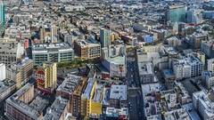 stay (pbo31) Tags: bayarea california nikon d810 color may 2017 spring boury pbo31 northerncalifornia sanfrancisco city urban over hilton hotel tenderloin view rooftops marketstreet midmarket panorama stitched large panoramic soma shadow afternoon skyline art stay mural