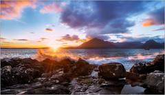 Elgol (LesPauly) Tags: skye scotland elgol sunset sea seascapes wave nikond800