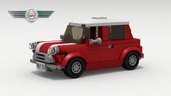 Mini Cooper (new) (LegoGuyTom) Tags: mini minor austin rover classic vintage british britain auto coupe compact 1960s 1970s 1980s lego ldd legos digital city designer pov famous cooper povray legodigitaldesigner legocity lxf dropbox download european europe england english