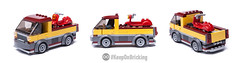 LEGO City 60150 alternate (KEEP_ON_BRICKING) Tags: lego city 60150 pizza van set alternate build remix remake
