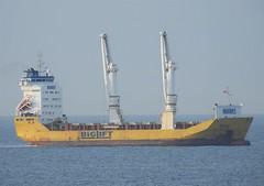 """Big Lift"" off Seaton Sluice - North Sea (Gilli8888) Tags: northeast boats coast maritime ship biglift northsea seatonsluice coastal yellow nikon coolpix p900"