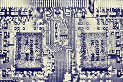 Chip - Macro Mondays theme 22 May 2017 (schreudermja) Tags: chip hhm macromondays martyschreuder thenetherlands nederland breda macro blue samsungnx30 bluelight makro closeup 30mmf20 memory ram