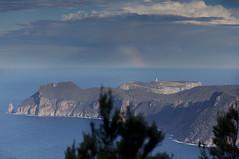 IMG_2685b_v2 (TassieJohn) Tags: tasmania australia tasmanpeninsula threecapestrack rain cloud rainbow ocean capepillar lighthouse tasmanisland