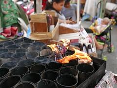 flower and candle vendors (DOLCEVITALUX) Tags: lumixlx100 panasoniclumixlx100 flowers flower candle child sleeping streetscenes streetphotoshoot philippines manila