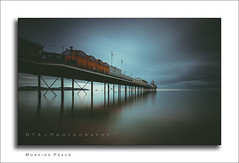 Morning Peace (RTA Photography) Tags: paignton pier southdevon paigntonpier rtaphotography dawn peaceful haunting still longexposure nisi ndfilter nd1024 nikond7000 sigma1020mm456exdchsm light seascape sky tranquil torbay devon 12mm reflections colour faded serene soft vignette clouds grey nikon dreamy mysterious