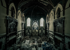 The Enchanting Maria (_NeQo_) Tags: decayed désaffecter derelict forgotten abandoned church chapel chair gothic exploring golden heritage history lost mysterious mystica neglected glass glasswork windows olympus neqo room urban urbex urbanexploration explored exceptional symmetry zuiko