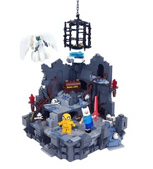 Dungeon Time! (Tim Lydy) Tags: lego adventure time jake finn dungeon brickworld chicago 2017 snail