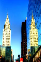 Chrysler Twins (Tryppyhead) Tags: nyc 2017 spring architecture buildings artdeco 20thcentury usa skyscraper hdr nikond7200 photomatixpro4 paintshoppro
