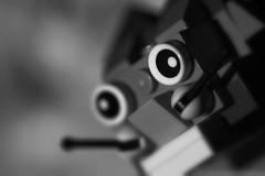 Eyes. (Dikke Biggie.) Tags: macromondays macromonday happymacromondays hmm macro closeup detail themeeyes eye eyes ogen lego toy toys speelgoed oog blackandwhite bw black white zwartwit zw zwart wit monochrome monochroom dof depthoffield scherptediepte bokeh canon canoneos450d 100mm f28 monday maandag canonnl dgawc