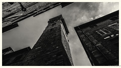 Lucca (frankdorgathen) Tags: outdoor house stone sky wideangle perspective high italien italy toskana tuscany lucca urban city town architecture building blackandwhite monochrome